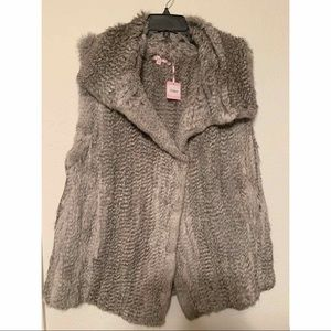Silver Rabbit Fur Vest by Calypso (New With tags)